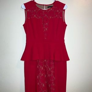 BCBGMaxAzria Peplum Dress.